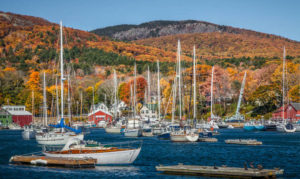 Autumn Sailing Camden Maine