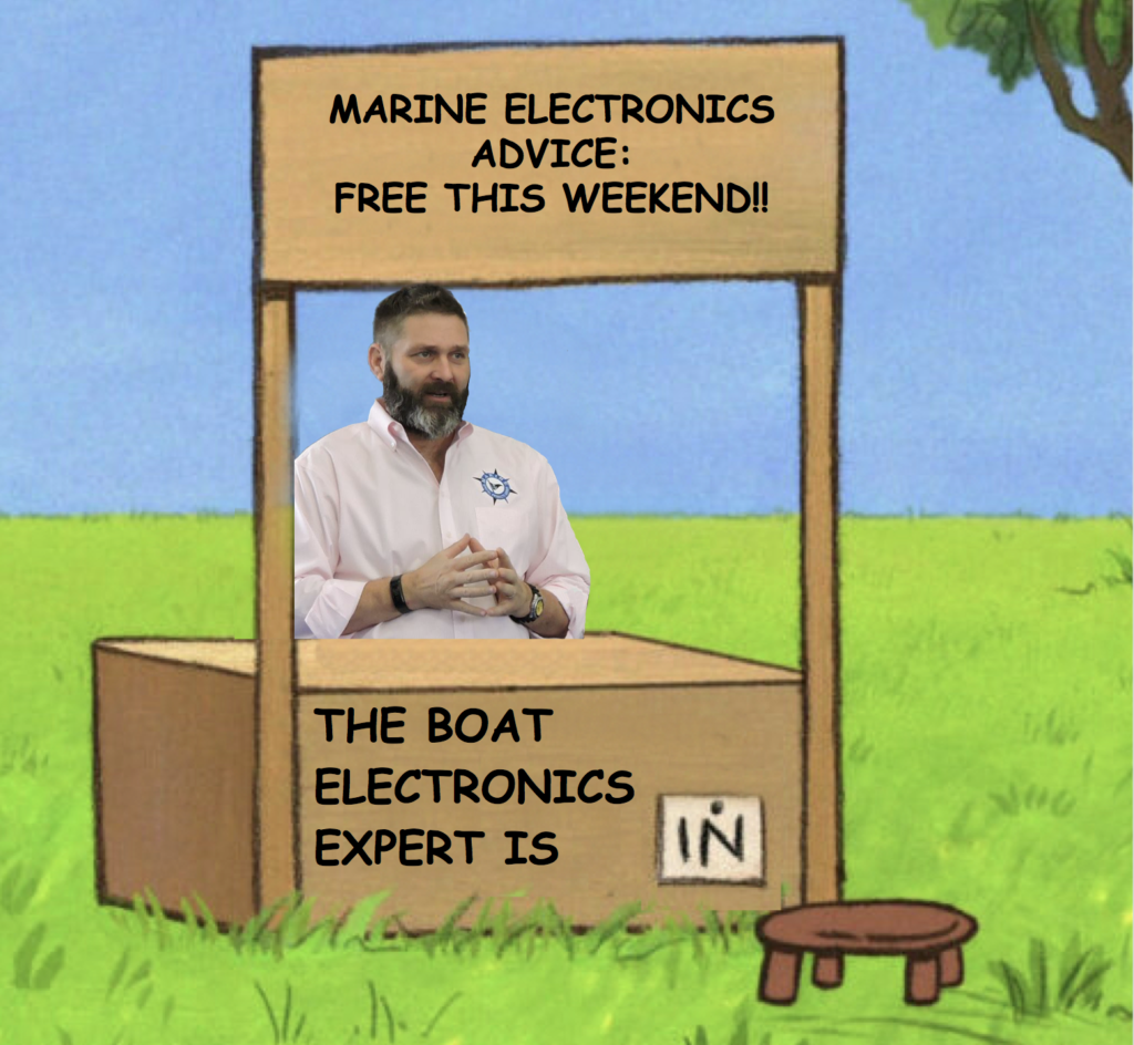 The Marine Electronics Expert is in